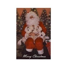 Maltese Holiday Cards Rectangle Magnet