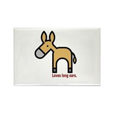 Loves Long Ears Rectangle Magnet (10 pack)
