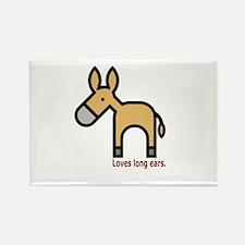 Loves Long Ears Rectangle Magnet (10 pack)
