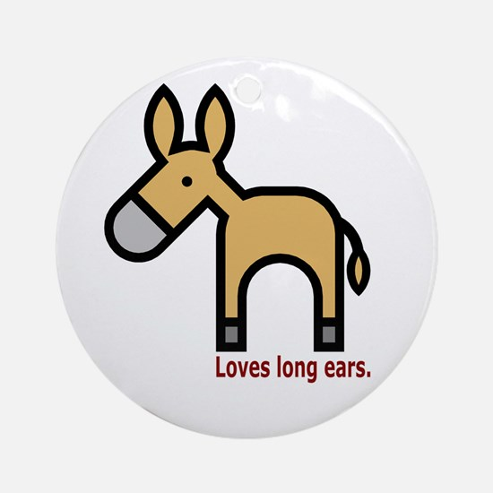 Loves Long Ears Ornament (Round)