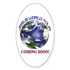 Jesus World Tour Oval Decal