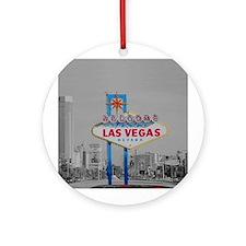 Las Vegas Retro Ornament (Round)
