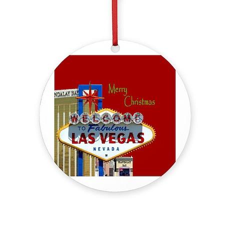 Las Vegas 777 Merry Christmas Ornament (Round)