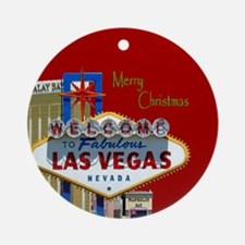 Las Vegas 777 Merry Christmas Ornament (Round)
