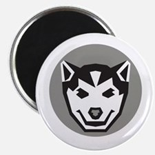 Baby Wolf Cub Head Circle Retro Magnets