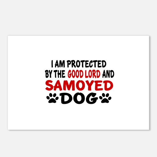 Protected By Samoyed Postcards (Package of 8)