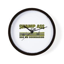 SWAMP ASS (HAS NO BOUNDARIES) Wall Clock