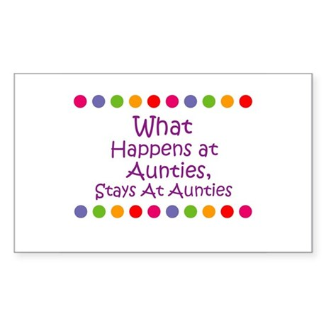 What Happens at Aunties, Sta Sticker (Rectangular
