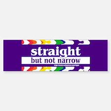 straight but not narrow Bumper Car Car Sticker