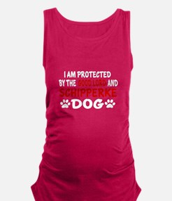 Protected By Schipperke Maternity Tank Top
