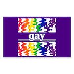 gay Rectangle Sticker