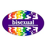 bisexual Oval Sticker