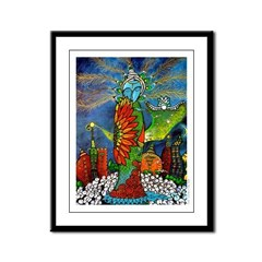 Marcy Hall's Bird Goddess Framed Panel Print