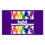lgbt - lesbian, gay, bisexual Sticker (Rectangular