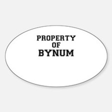Property of BYNUM Decal