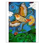 Marcy Hall's Hawk Totem Small Poster