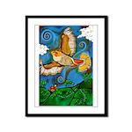 Marcy Hall's Hawk Totem Framed Panel Print