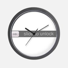 Slide to Unlock Wall Clock