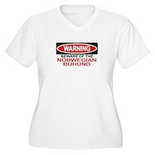 NORWEGIAN BUHUND Womes Plus-Size V-Neck T-Shirt