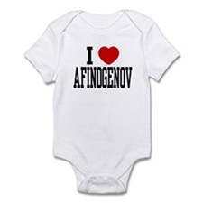 I <3 Afinogenov Infant Bodysuit