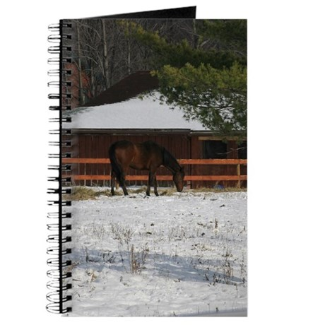 Horse in the Snow Journal