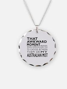 Awkward Australian Mist Cat Necklace