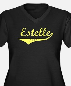 Estelle Vintage (Gold) Women's Plus Size V-Neck Da