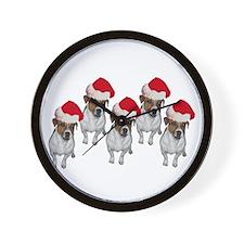 """Jack Russell Santa"" Wall Clock"