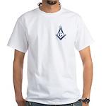 The Blue Masonic Lodge White T-Shirt