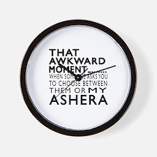 Awkward Ashera Cat Designs Wall Clock