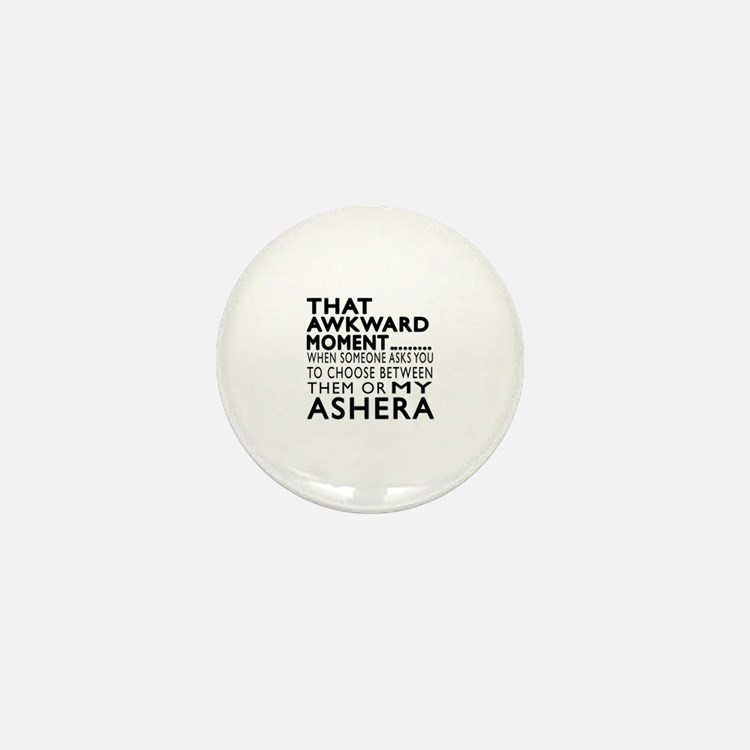Awkward Ashera Cat Designs Mini Button