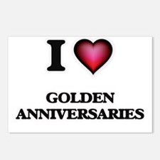 I love Golden Anniversari Postcards (Package of 8)