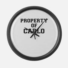 Property of CARLO Large Wall Clock