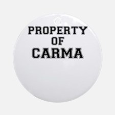 Property of CARMA Round Ornament