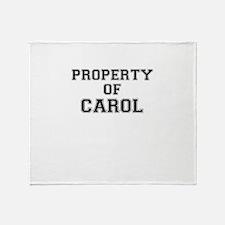 Property of CAROL Throw Blanket