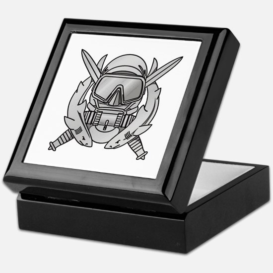 Combat Diver (2) Keepsake Box