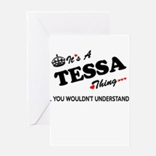 TESSA thing, you wouldn't understan Greeting Cards
