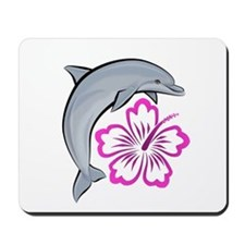 Dolphin Hibiscus Pink Mousepad