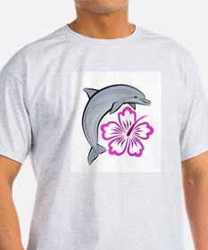 Dolphin Hibiscus Pink T-Shirt