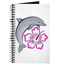 Dolphin Hibiscus Pink Journal