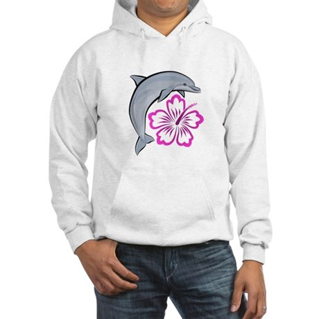 Dolphin Hibiscus Pink Hooded Sweatshirt