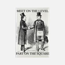 Meeting On the Level - Black Rectangle Magnet