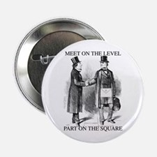"Meeting On the Level - Black 2.25"" Button (10 pack"