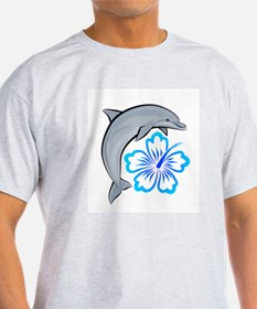 Dolphin Hibiscus Blue T-Shirt