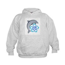 Dolphin Hibiscus Blue Hoody