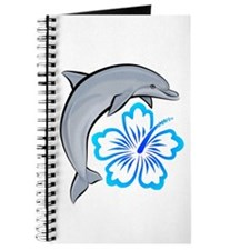 Dolphin Hibiscus Blue Journal