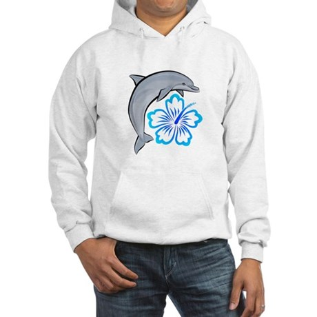 Dolphin Hibiscus Blue Hooded Sweatshirt