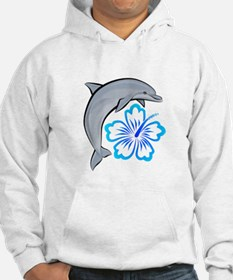 Dolphin Hibiscus Blue Hoodie