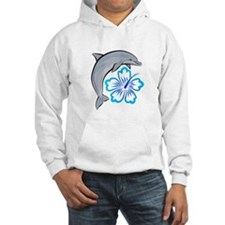 Dolphin Hibiscus Blue Jumper Hoody