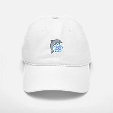 Dolphin Hibiscus Blue Baseball Baseball Cap